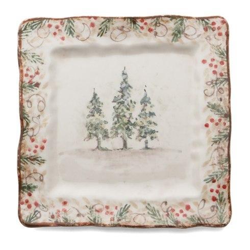 Arte Italica  Natale Natale Square Plate $45.00