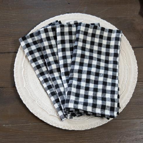 $53.00 Black Check, set of 4