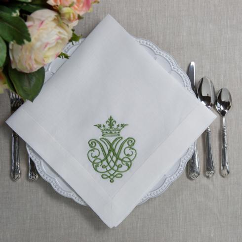 $23.00 Crest, White/Green