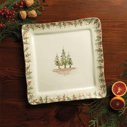 Arte Italica  Natale Square Platter Signed $65.00