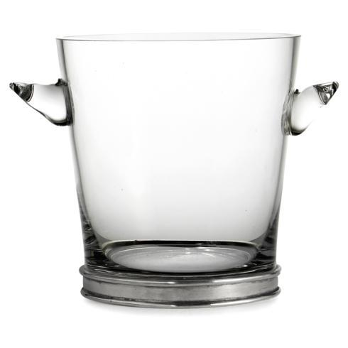Arte Italica  Pewter Barware  Glass Ice Bucket $157.00