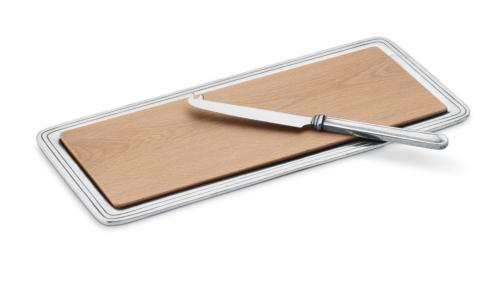 Arte Italica  Peltro Cheese Board with Knife $220.00
