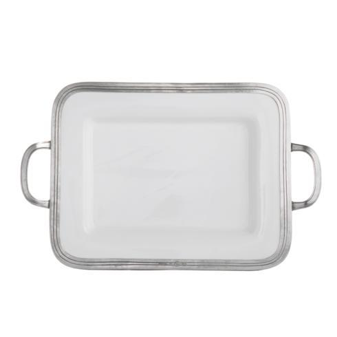 $275.00 Small Rectangular Tray with Handles