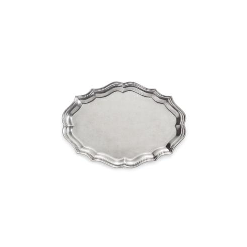 $273.00 Scalloped Small Oval Tray