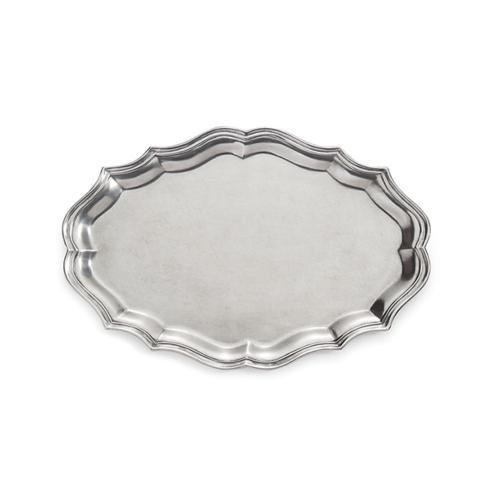 $504.00 Peltro Scalloped Large Oval Tray