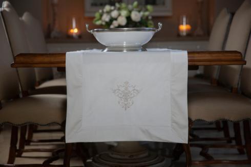 Arte Italica  Runners by Crown Linen Designs Victorian Velvet Cream  22 x 108 $70.00