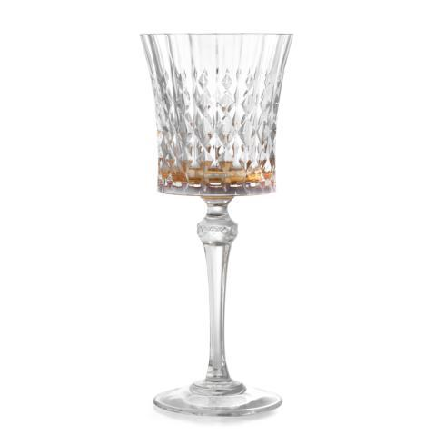 $65.00 Amber Water Glass