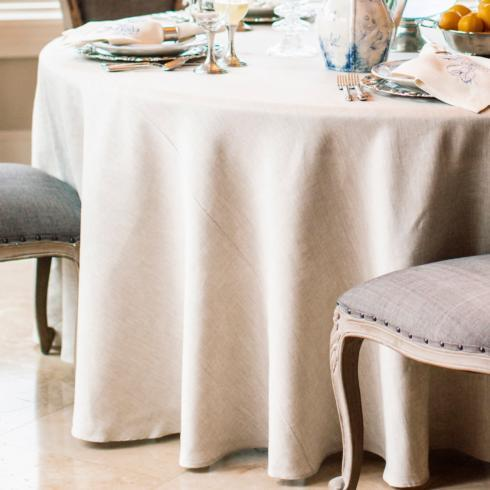 """Arte Italica  Table Squares & Tablecloths by Crown Linen Designs Cream Tablecloth 90"""" $160.00"""