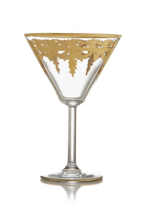 Arte Italica  Vetro Gold Martini Glass $97.00