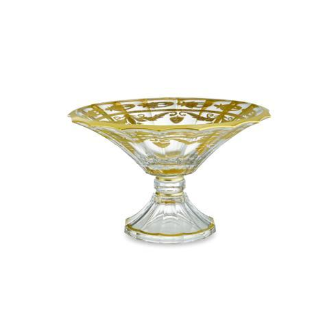 $473.00 Gold Scalloped Footed Bowl