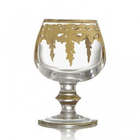 $99.00 Gold Brandy Glass
