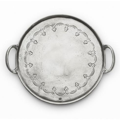 $220.00 Round Tray with Handles