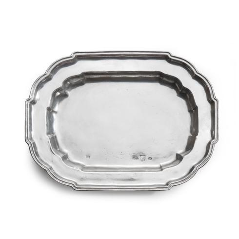 $578.00 Large Oval Scalloped Tray
