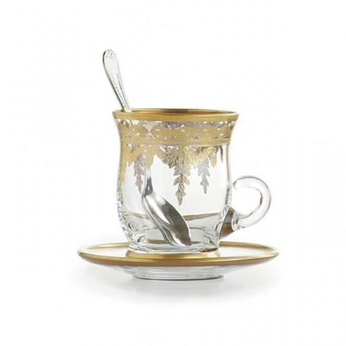 Gold Cup & Saucer with Spoon