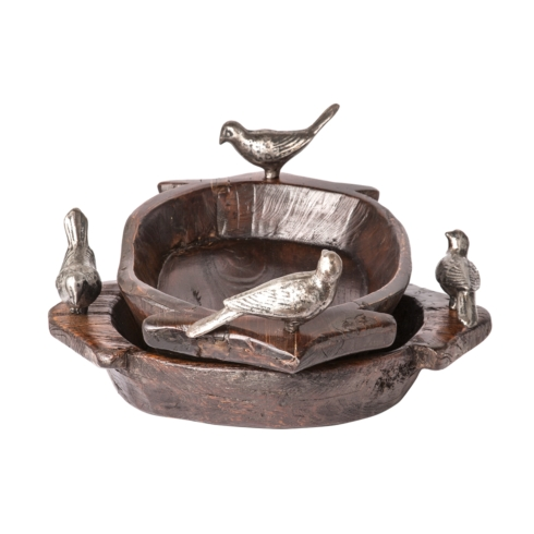 $594.00 Primitive 2 Bird Bowl