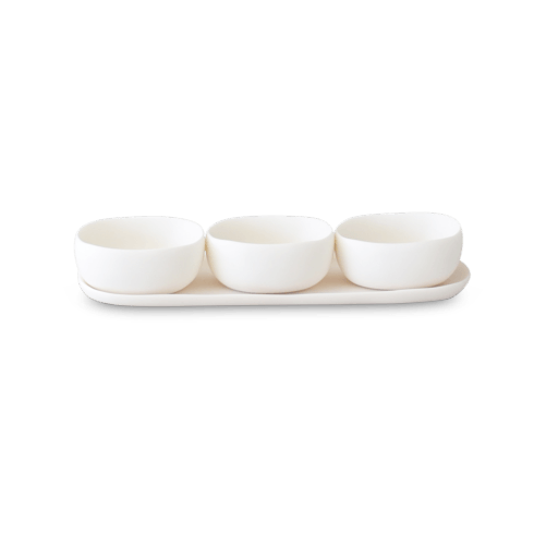 $228.00 Trio of Bowls on Dish