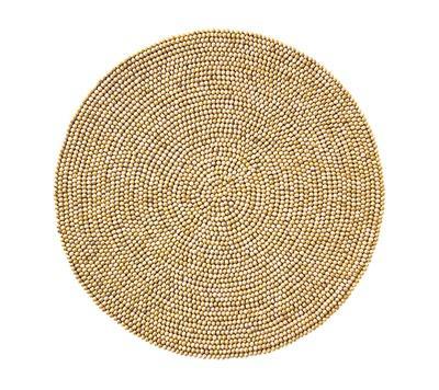 $79.00 Natural Wood Bead Placemat