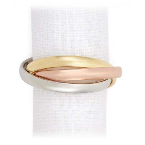 $215.00 Napkin Rings S/4 Tri-Color
