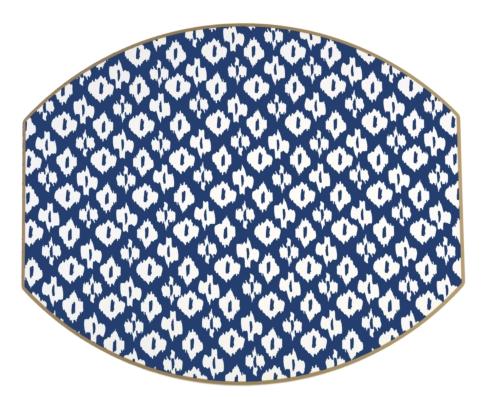Holly Stuart Design   Navy Ellipse Placemat $40.00