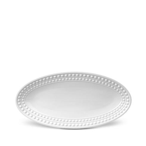 L'Objet   Perlee White Oval Platter-Small $134.00