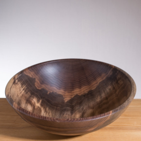 "$195.00 13"" Black Walnut Willoughby Bowl"
