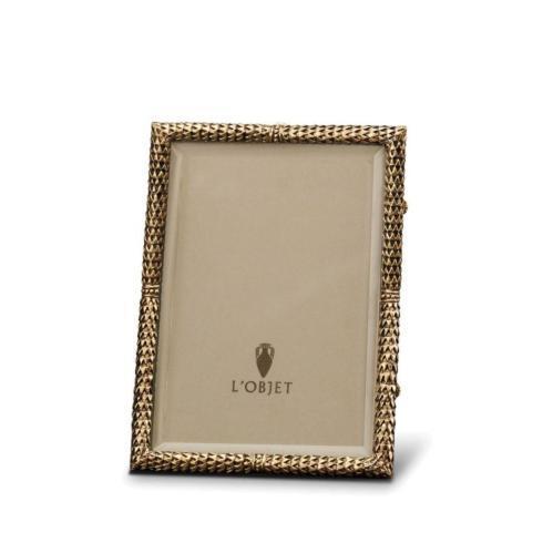 L'Objet   Scales Frame 4x6 Gold $165.00