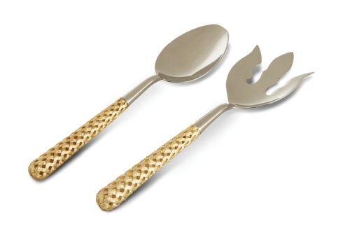 L'Objet   Gold Braid Serving Set $210.00
