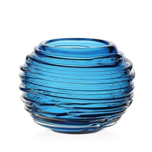 """$235.00 MIranda 4"""" Aqua Globe Vase"""