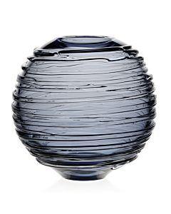 "$395.00 Miranda Globe 9"" Vase Steel Blue"