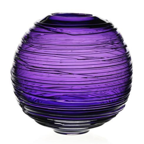 """$395.00 Miranda 9"""" Amethyst Globe Vase"""
