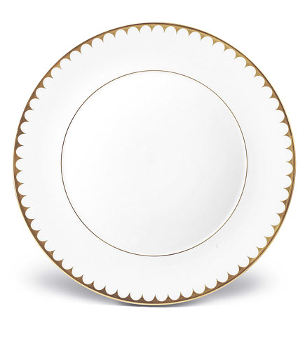 L'Objet   Agean Gold Filet Dinner Plate $130.00