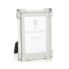"""$245.00 4x6"""" White Shagreen Frame"""