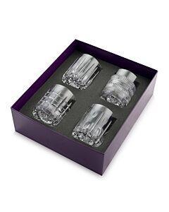 $355.00 Skye Box of 4 Whiskey Tumblers