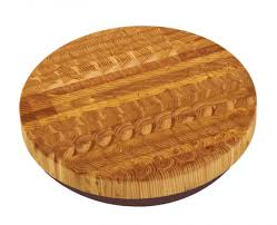 Larch Wood   Round Cutting Board $260.00
