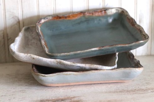 "Etta B Pottery  Serving Pieces 11"" Simply Rectangular Baker Assorted EBP-022 $60.00"