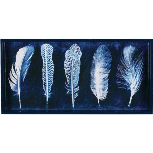 Rock Flower Paper   Indigo Feathers 10