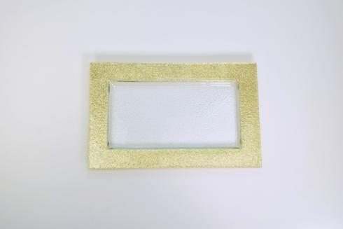 $106.00 10x16 Rectangular Serving Tray w/gold TCH-147