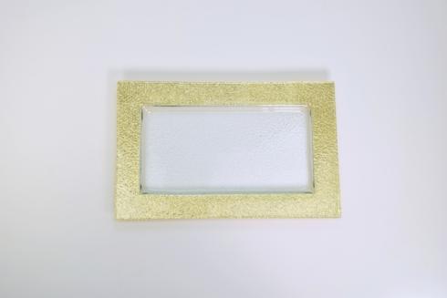 $106.00 10x16 Rectangular Serving Tray w/gold TCH-147