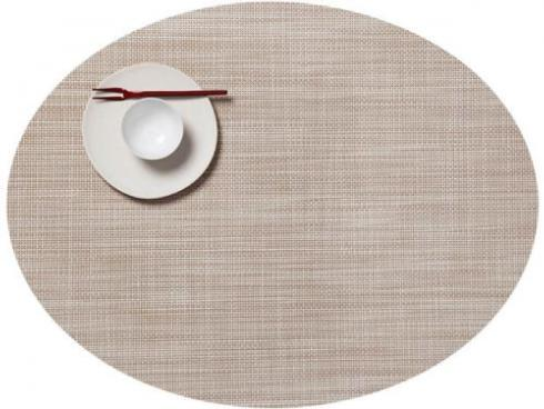 $16.50 Oval Mini Weave Parchment Placemat
