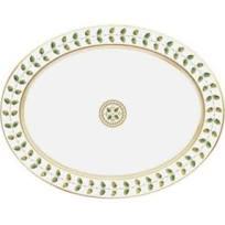 """Bernardaud  Constance Constance Green 13"""" Oval Platter BL-398 $585.00"""