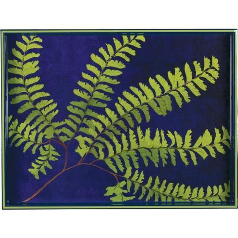 Rock Flower Paper   Green Fern Rectangular Tray RFP-181 $94.00