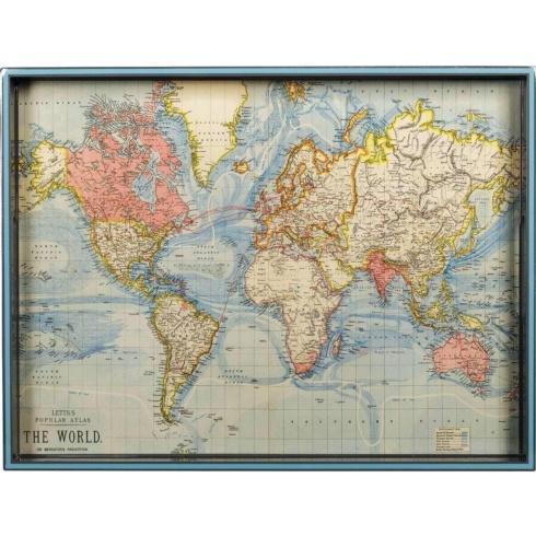 Rock Flower Paper   World Map 15x20 Tray RFP-015 $94.00