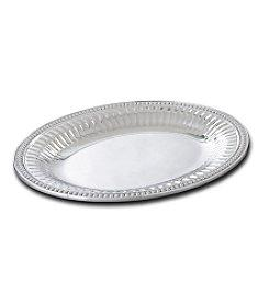 Wilton Armetale  Flutes and Pearls Medium Oval Tray WLT-022 $66.00