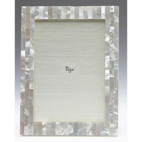 Tizo Designs   5x7 Mother of Pearl White Frame TIZ-826 $101.00