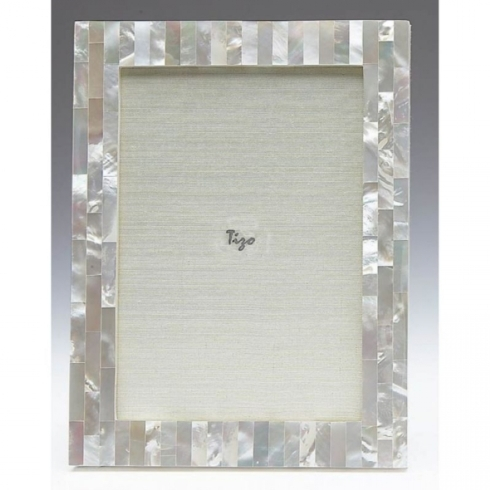 $128.00 5x7 Mother of Pearl White Frame TIZ-826