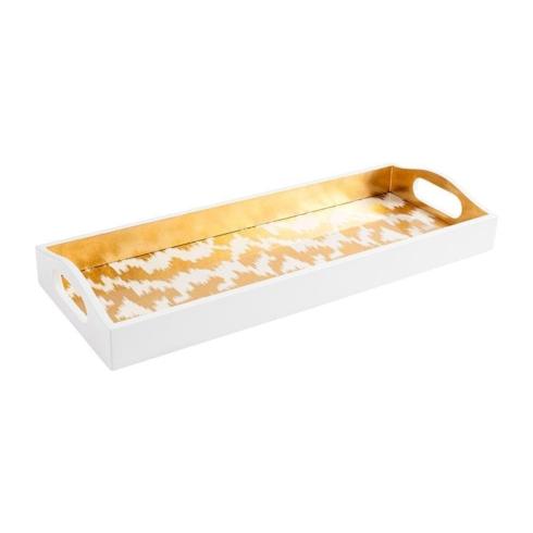 $128.00 Modern Moire Gold Bar Tray CAS-222
