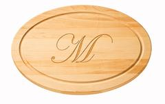 "$64.00 12"" Small Oval No Handles Cutting Board MLF-016"