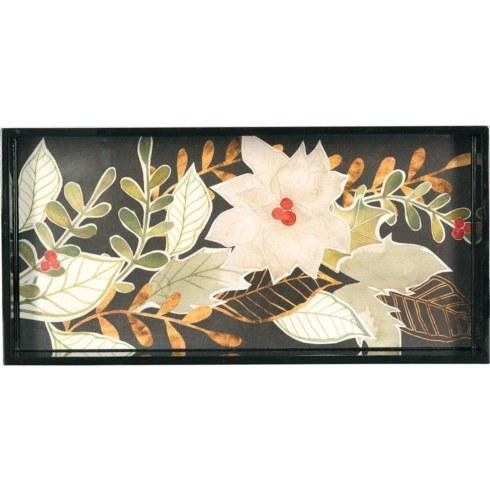 Rock Flower Paper   White Poinsettias 10x20 Tray RFP-027 $74.00