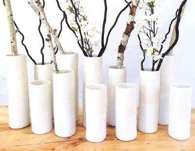 Alex Marshall   Stone Medium Cylinder Vase AMS-381 $106.00
