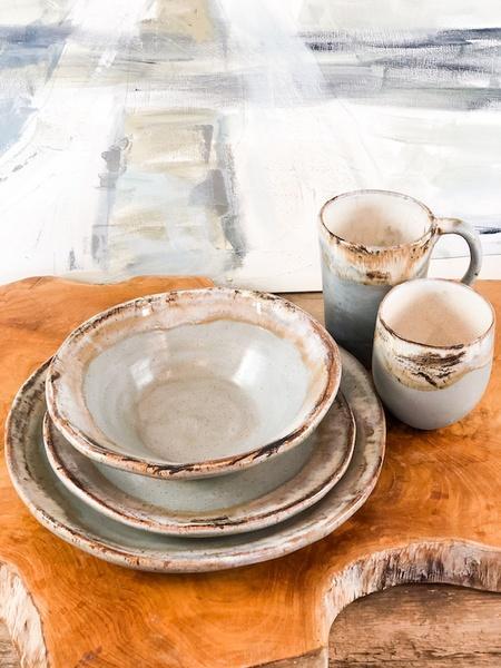 Etta B Pottery  Dinnerware - Farmhouse Peaceful Round Salad EBP-722 $40.00